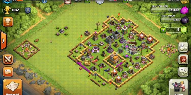 Clash of clans level 7 town